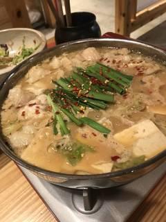 濃い味噌もつ鍋