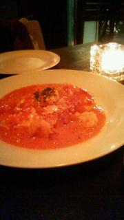 海老とトマトソースのオムレツ