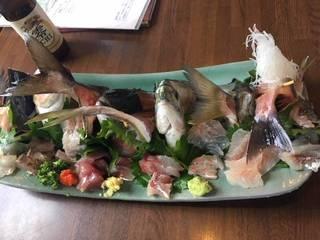 地魚の刺身定食