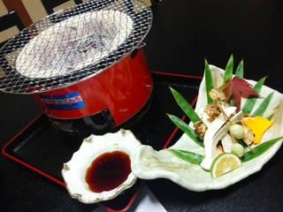 松茸の炙り焼き