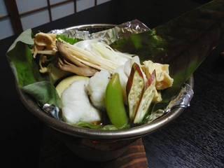 アイナメの朴葉味噌焼き