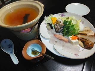 鱧と松茸のしゃぶしゃぶ鍋