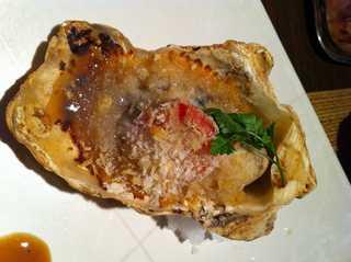 生牡蠣のオーブン焼き ガーリックバターで