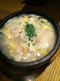 牡蠣の石焼雑炊