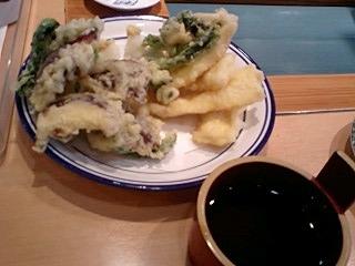 椎茸と烏賊の天ぷら