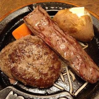 弾丸ハンバーグ&スペシャルステーキ