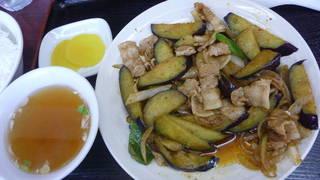 四川ナスと肉の炒め定食 税込850円