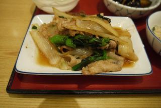 豚と菜の花の生姜焼き