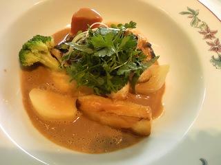 真鯛のグリル スープ仕立て