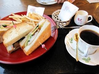 サンドイッチのセットメニュー