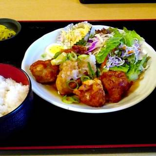 おろしポン酢唐揚げ定食