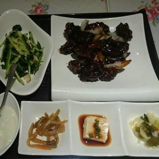 黒酢の酢豚セット
