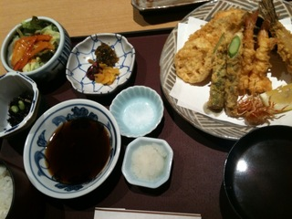 天ぷら定食 桃