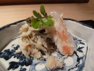 蒸し蟹と焼き蟹