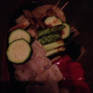 塩豚と焼き野菜の盛り合わせ