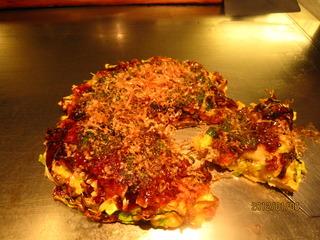 牡蠣 のお好み焼き