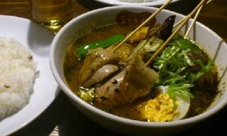 パリパリ知床鶏と野菜カレー
