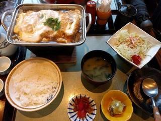 豆腐かつ煮定食