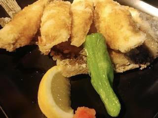 白身魚の梅しそ揚げ