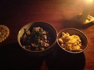梅ひじき御飯とバラバラ玉子
