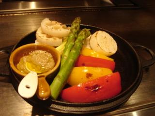 野菜焼きバーニャカウダソース