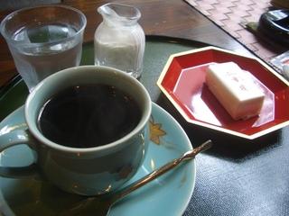 コーヒーほっこりお菓子付