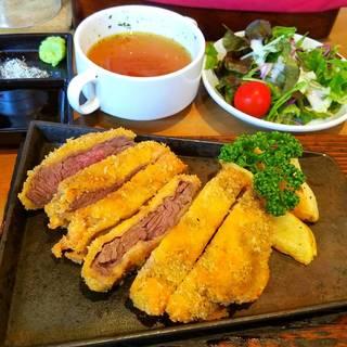 牛ハラミカツ(サラダ・スープ・ご飯付き)