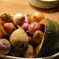 全て地元で採れた無農薬野菜を使用した生パスタと前菜料理