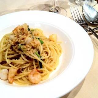 小エビと小柱のスパゲッティ