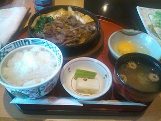 すきやき定食(上)