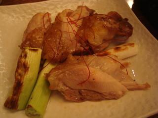 地鶏の岩塩あみ焼き