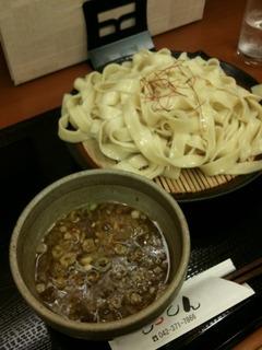 カレーつけ麺 平打ち麺