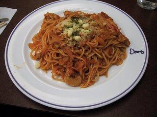 スパゲティナポリタン蟹