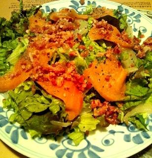 サーモンマリネのサラダ