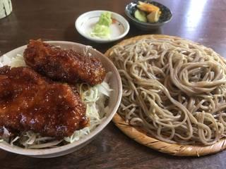 そば(冷)と小盛りソースかつ丼(高級ヒレ肉)