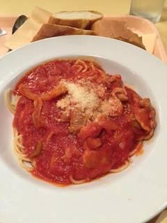 豚ばら肉のトマトソースのスパゲティー