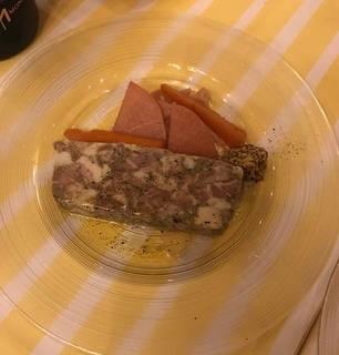 岩中豚と茸のパテ