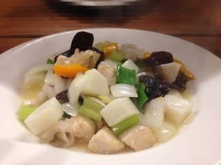 長芋と鶏肉の炒め