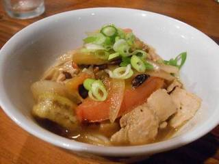 トマト豆鼓温麺