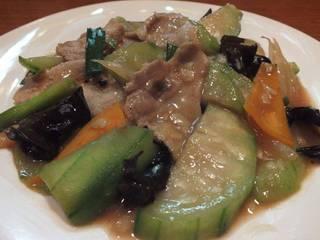 ヘチマと豚肉のコク炒め