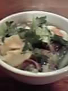 あっさりスープの野菜刀削麺