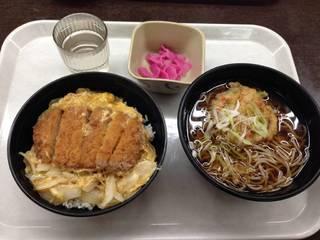 ロースかつ丼&そばセット