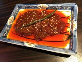マーラー牛肉漬けの四川風