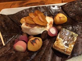 鯛とカラスミの吹寄煮