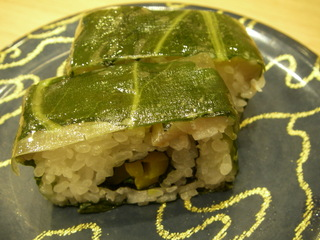 〆鯵の高菜押し寿司