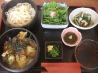 天丼と稲庭うどんセット