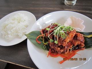 日替わりランチ  鶏の甘酢アン
