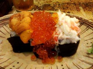 ぶっかけ三点寿司