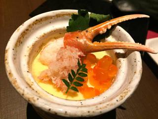 蟹の冷やし茶碗蒸し