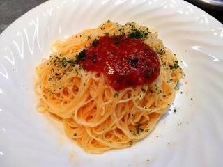 トマトの冷たいスパゲッティ